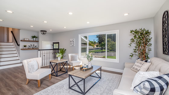 Living space designed by Atlanta Home Improvement